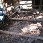 In 2009, there were some 13 42-gallon-size sacks of rodent debris removed from under the original floor boards. This included 70 years worth of wood rat skeletons, litter, and assorted waste.
