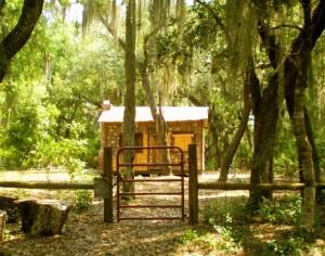 Gate to restored cabin